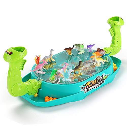 Lihgfw Kinderdoppelkampf Katapult Spielzeug Eltern-Kind-Interaktion Jungen und Mädchen Brettspiele Familie Brettspiele Lernspielzeug (Color : 32 Dinosaur Models)