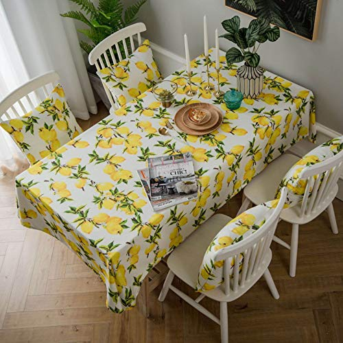 HTUO Home Decoration Rectangular Tablecloth Dust Proof Table Cover Christmas Decoration Stain Proof Waterproof Buffet Decoration Kitchen Dinning Party Living Room Outdoor 100 * 135cm