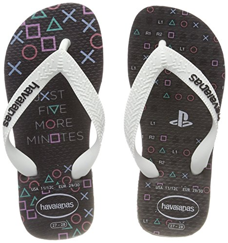 Havaianas Playstation, Chanclas Unisex niños, Multicolor (New Graphite), 27/28 EU