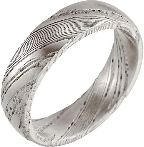 Damascus Steel 6 mm Flat Size Purchase Ranking TOP13 10 Patterned Band