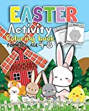 Activity Easter Coloring book for kids age 4-8: Fun Easter Coloring Pages Happy Easter Day, Dot to Dot, Mazes, Word Search  Workbook Game For kids Learning