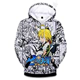 RENEO Manga Larga Jersey para Fanes de Anime,Nanatsu No Taizai,The Seven Deadly Sins Camiseta Unisex...