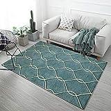 HXJHWB alfombras Salon con Bases Antideslizantes decoración - Líneas Simples, alfombras rectangulares, cómodas alfombras Impermeables para Interiores súper suaves-160CMx230CM