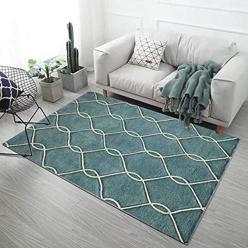 HXJHWB Alfombra Salón Moderna Varias Dimensiones - Líneas Simples, alfombras rectangulares, cómodas alfombras Impermeables para Interiores súper suaves-140CMx200CM