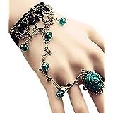 妖艶貴族 ゴスロリ ブレスレット 腕輪 ヘアゴム セットコスチューム用小物 緑