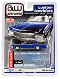 1970 Impala Sport Coupe Blue Metallic Custom Lowriders Limited Edition to 4800 Pieces Worldwide 1/64 Diecast Model Car by Autoworld CP7666