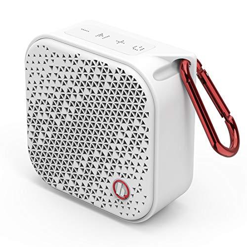 Hama Bluetooth Lautsprecher Pocket 2.0 wasserdicht (Kompakte, kleine Bluetooth Box, IPX7 Musikbox wasserfest, 14 h Spielzeit, AUX, Freisprecheinrichtung, 3.5 W, leichter Speaker mit Karabiner) weiß