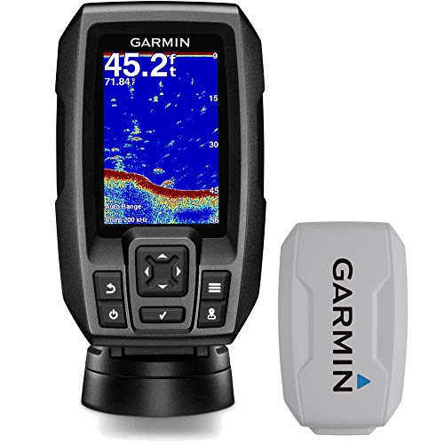 """Garmin Striker 4 3.5"""" Chirp Fishfinder GPS (010-01550-00) with Protective Cover"""