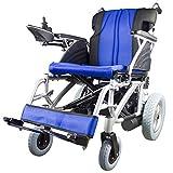 Mobiclinic, modelo Lyra, Silla de ruedas eléctrica, plegable, de aluminio, con motor, para discapacitados, minusválidos, ancianos, ortopedica, para mayores, autonomía 20 km, 24V, color Azul y Negro