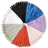 DOITEM 70pcs 30cm / 12 Pouces Multicolore Nylon Bobines à Glissière pour Coudre et Artisanat 7 Couleurs