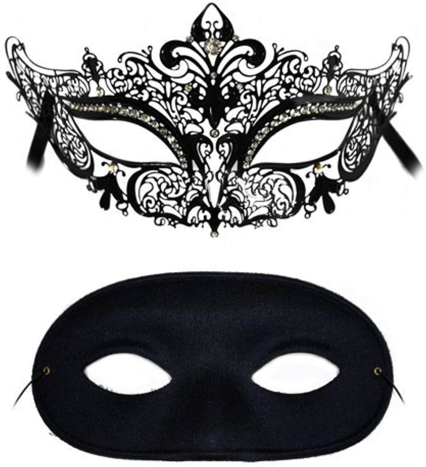 SimoneDomino Laser Cut and Classic Masquerade Masks for a Couple by Success Creations USA