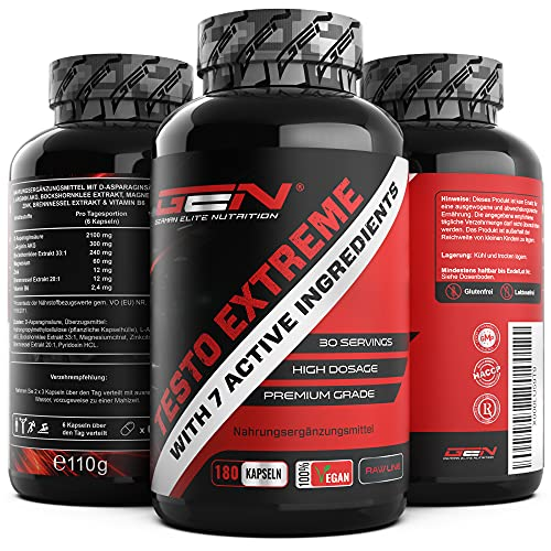 German Elite Nutrition -  Testo Extreme - 180