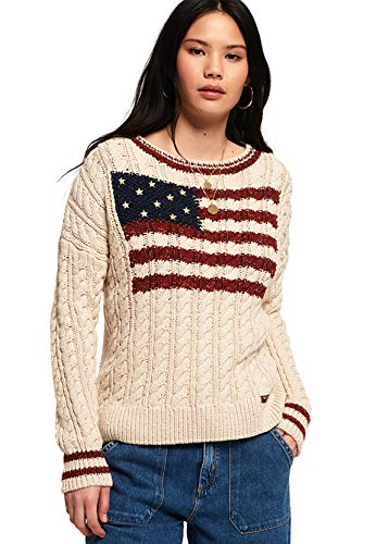 Superdry Pullover dames American Intarsia Knit Winter White
