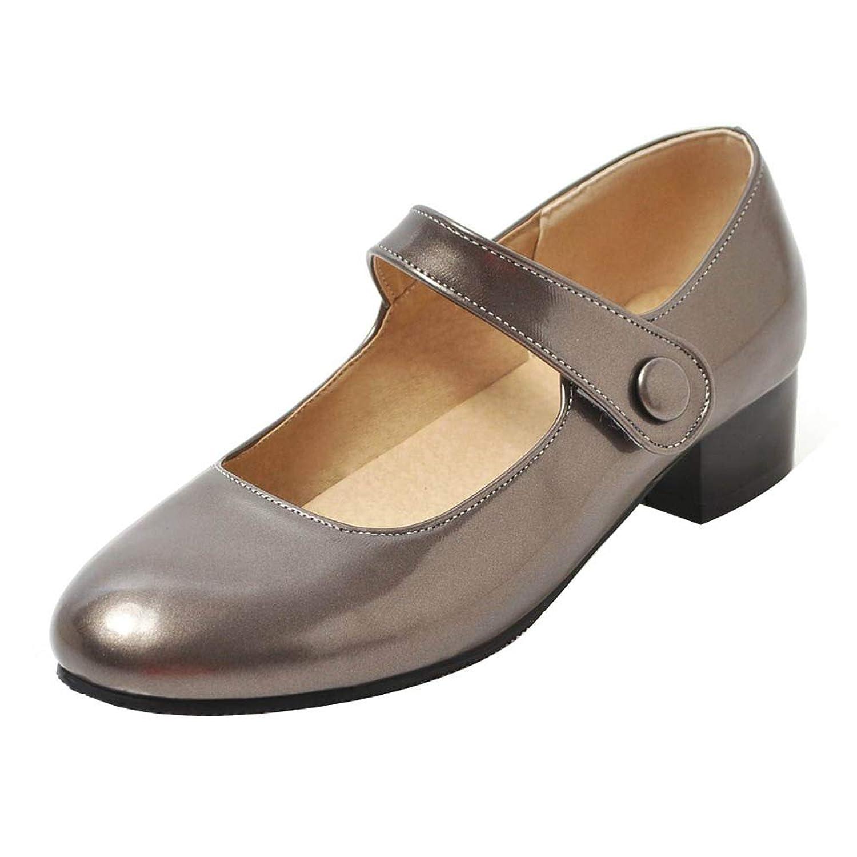 [KITTCATT] レディースパンプス メリージェーン 靴 パンプス 甲ストラップ シューズ 通学用 ラウンドトゥ ローヒール 森ガール 学園風 ベルクロ 靴 可愛いシューズ女の子