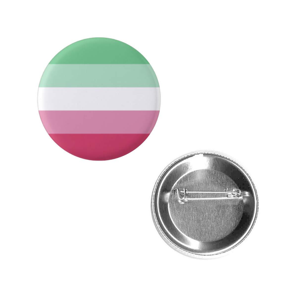 "Same day shipping Abrosexual Pride Flag Pin 1.5"" Round Shape P Button Metal Kansas City Mall Circle"
