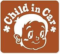 imoninn CHILD in car ステッカー 【マグネットタイプ】 No.23 赤ちゃん2 (茶色)
