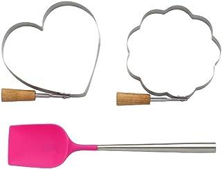 KSNY All in Good Taste Pancake with 2 Molds Gift Set, Aluminum