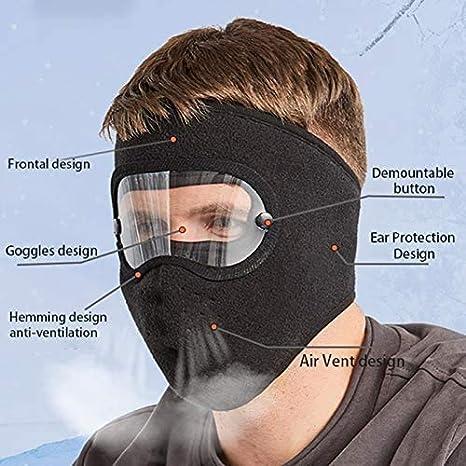 Chagoo Dust-Proof Facial Protection Anti-Fog Facial Protection Anti-Fog Dust-Proof Full Face Protection Headgear Autumn And Winter Warm/_Mask
