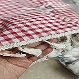 NHhuai Tela de Tabla Antideslizante del algodón del Poliester Cubierta Simple de la Tabla de la Manera Algodón y Lino Sencillos, pequeños y Frescos.