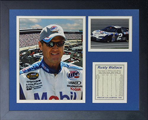 Rusty Wallace NASCAR Auto Racing Framed 8x10 Photograph Collage