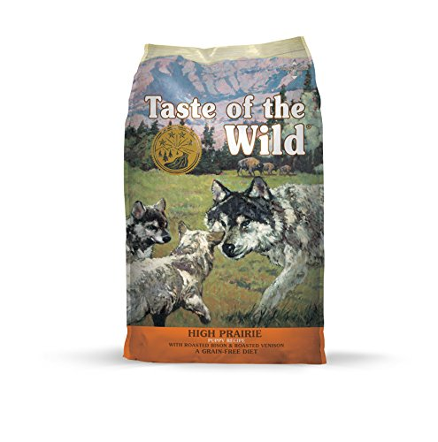 Taste of the Wild Grain Free High Protein Real Meat Recipe High Prairie Puppy Premium Dry Dog Food -...