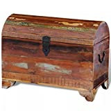 Luckyfu Caja de madera antigua maciza Dimensiones totales: 60 x 30 x 45 cm (largo x ancho x alto). Baúles y baúl. Baúl. Baúl. Baúl de madera.