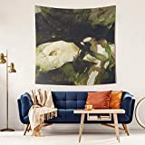 LunchBaggg Andrew Wyeth Art 1972 Nude for Helga 59x59inch Wall Tapestry Psychedelic Tapestry Awesome Living Room Decoration