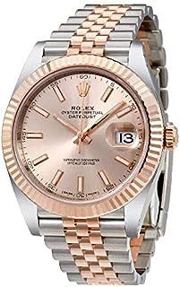Rolex Datejust 41 Sundust Dial Steel and 18K Everose Gold Mens Watch 126331SNSJ