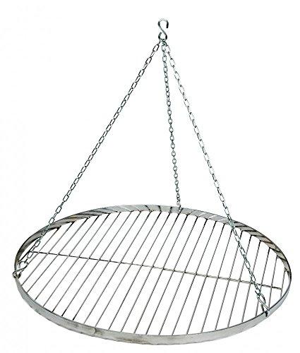 Best Sporting Schwenk-Grillrost mit Aufhängungs-Kette, Durchmesser ca. 70 cm, Edelstahl