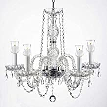 Crystal Chandelier Lighting Chandeliers W/Candle Votives H.25