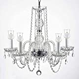 Crystal Chandelier Lighting Chandeliers W/Candle Votives H.25' W.24'...