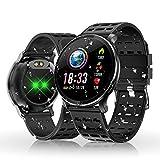 Reloj Inteligente, HOLALEI Smartwatch Pulsera Inteligente Impermeable IP68 Pantalla Color Podómetro con Pulsómetro, Monitor de Calorías, Sueño para Android y iOS (Negro)