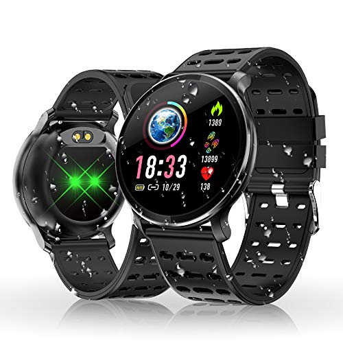Reloj Inteligente, HOLALEI Smartwatch Pulsera Inteligente Impermeable IP68 Pantalla Color...