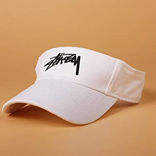 Vadeytfl Visor Hats,Sun Visors for Women and Ladies, Adjustable Hat for Golf Cycling Fishing Tennis Running Jogging and Other Sports Cap (Color : White)