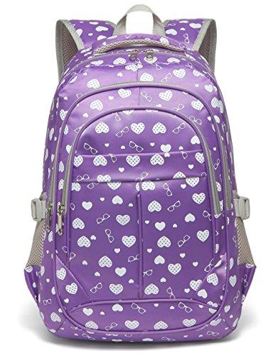 Sweethearts Kids Bookbags for Girls Backpacks for Elementary School Bags for Children(Purple)
