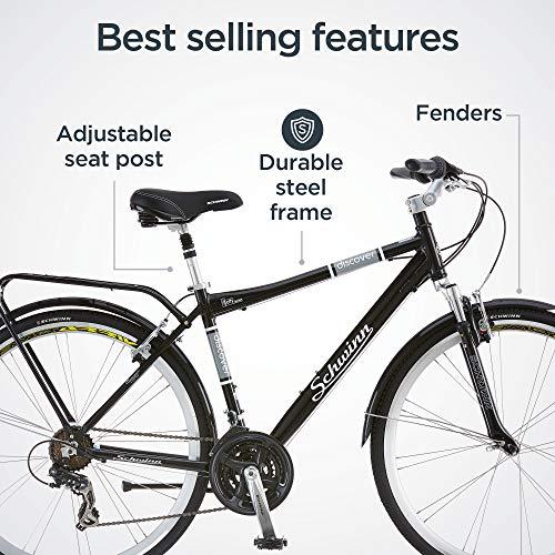 51rP9cDDdXL. SL500 Schwinn Discover Hybrid Bike for Men and Women