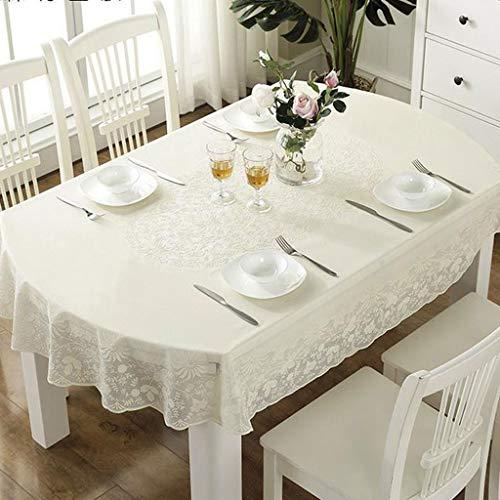 Y-LIFE Tafelkleden Ovaal Veeg Schoon Tafelkleed Rechthoekig Waterdicht Vinyl PVC Tafelkleed voor Tuin Keuken Buiten of Binnen(135 * 180cm)