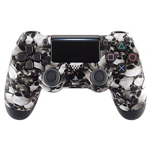 eXtremeRate PS4 Controller Hülle Schutzhülle Case Obere Cover Oberschale Gehäuse Skin Schale für Playstation 4 PS4 Slim PS4 Pro Controller JDM-040 JDM-050 JDM-055(Totenköpfe)