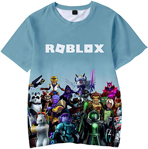 Roblox 3D Printed T-Shirt for Boy Girl Game Short Sleeve Casual Tee (120,Style05)