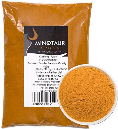 Minotaur Spices | Kurkuma gemahlen, Kurkumapulver mild, 2 X 500g (1 Kg)