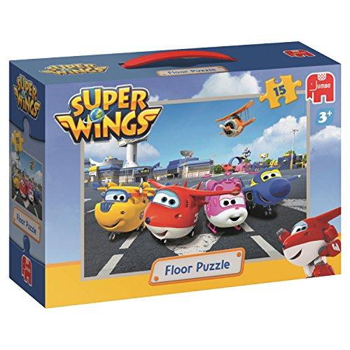 Super Wings Vloerpuzzel 15 stukjes   Rompecabezas (Rompecabezas para Suelo, Dibujos, Niños, Niño/niña, 3 año(s), Cartón)