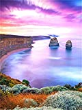DIY 5D Diamond Painting for Adults,Paisaje junto al mar Full Drill Diamond Painting by Numbers Kits Large Embroidery Cross Stitch Rhinestone Diamond Art Crafts for Home Wall Decor -45x60cm/18x24in