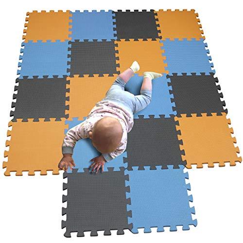 MQIAOHAM Esterilla Puzzle Fitness-18 losas EVA Espuma