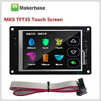 3Dman MKS TFT35 V1.0 3.5 Inch Full-Color Touch Screen,Support Marlin/Smoothieware/Repetier with Wifi Module, APP, Cloud Printing for 3D Printer Parts