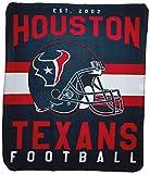 Officially Licensed NFL Houston Texans 'Singular' Printed Fleece Throw Blanket, 50' x 60', Multi Color