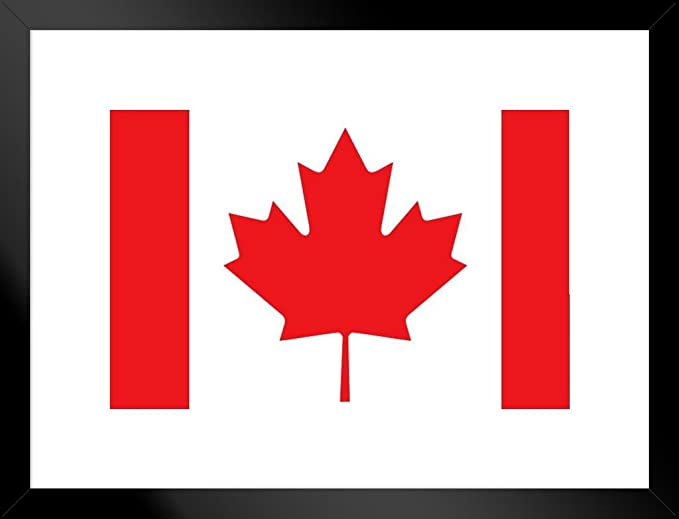 Flags Canadian Maple Leaf National Flag Of Canada Black Wood Framed Art Poster 14x20 Posters Prints Amazon Com