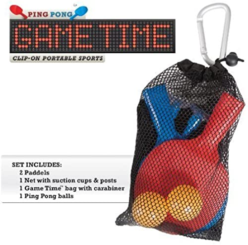 Ping Pong Game Time Clip-On Portable Sports by Geospace Toys