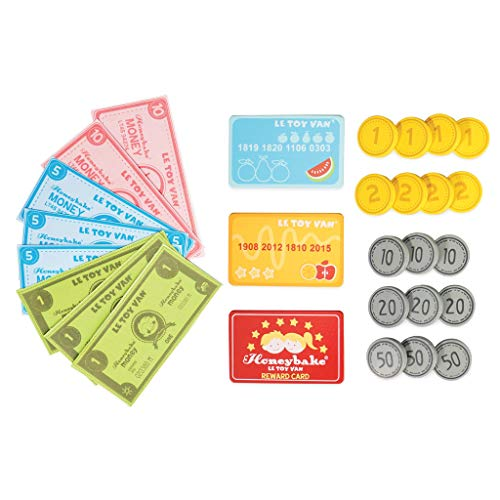 Le Toy Van creditcardlezer houten speelgoed, met lezer, rood