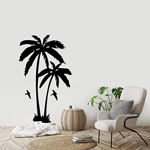 Kwekerij Decoratie van Kokosnoot Boom Plant Muursticker Woonkamer Verwijderbare Vinyl Palm Boom Muur decal57x63cm