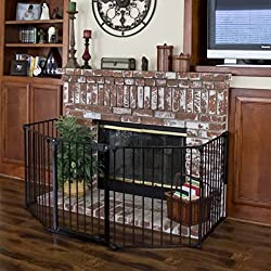 A fireplace can be a dangerous area for a baby to be around